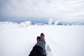 Traveler in winter mountains - PhotoDune Item for Sale