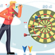Man Playing Darts Game Championship Concept - GraphicRiver Item for Sale