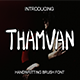 Thamvan Brush Font - GraphicRiver Item for Sale