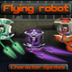 Flying Robot 2D Sprites - GraphicRiver Item for Sale