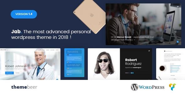 Jab - Advanced Personal Resume / CV vCard Theme - Portfolio Creative