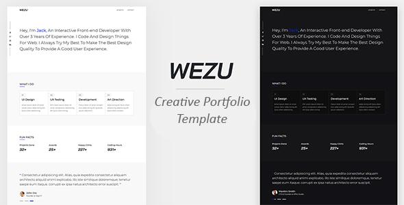 Wezu - Creative Portfolio Template - Portfolio Creative