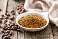 The instant coffee and coffee beans. - PhotoDune Item for Sale