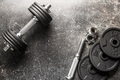 Dumbbell with black weight. - PhotoDune Item for Sale