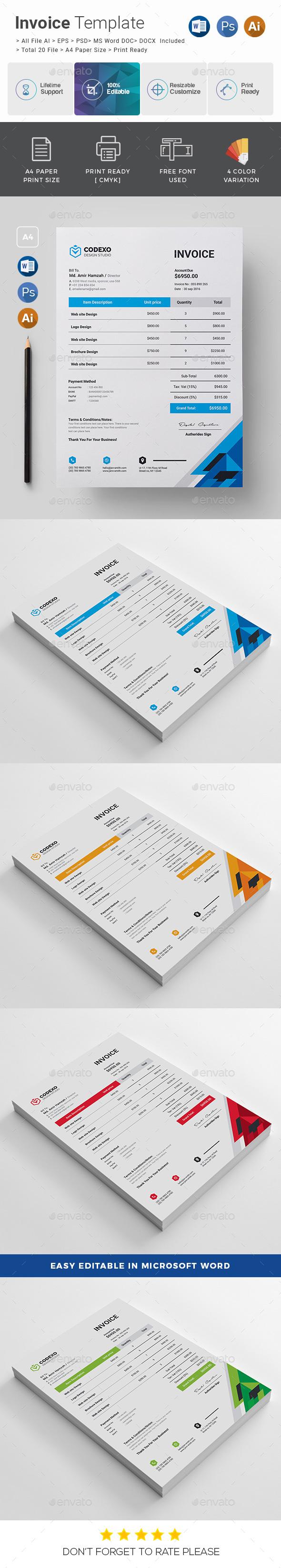 Invoice - Stationery Print Templates