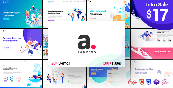 Agmycoo - Isometric Creative Digital Agency Portfolio Html Template