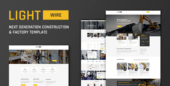 Top Lightwire - Construction And Industry Template