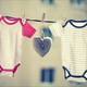 Baby girl and boy body and vintage heart - PhotoDune Item for Sale