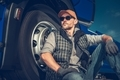 Relaxed Caucasian Truck Driver - PhotoDune Item for Sale