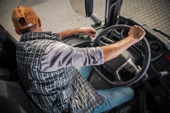 Learning Truck Driving CDL - Stock Photo - Images