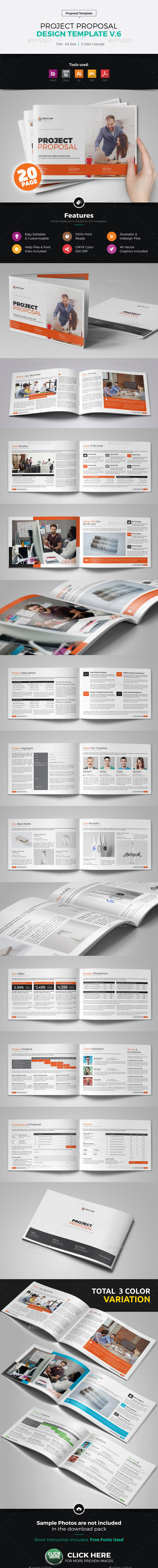 Project Business Proposal Design v6 - Proposals & Invoices Stationery
