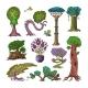Magic Tree Vectors - GraphicRiver Item for Sale
