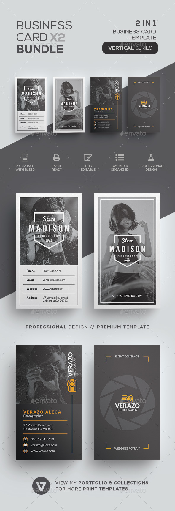 Photography Business Card Bundle - Industry Specific Business Cards