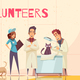 Volunteers Flat Poster - GraphicRiver Item for Sale
