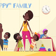 Happy Family Cartoon Illustration - GraphicRiver Item for Sale