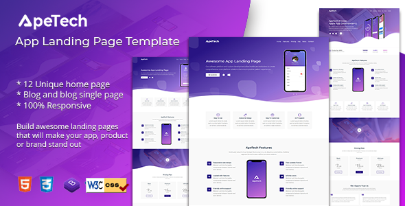 Apetech - App Landing Page - Apps Technology