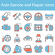 Car Service Maintenance Icon Set - GraphicRiver Item for Sale