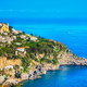 Praiano town in Amalfi coast, panoramic view. Italy - PhotoDune Item for Sale