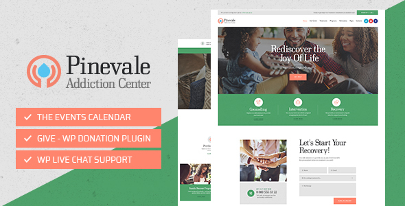 Pinevale | Addiction Recovery and Rehabilitation Center WordPress Theme - Health & Beauty Retail