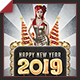 Happy New Year 2019 Flyer - GraphicRiver Item for Sale