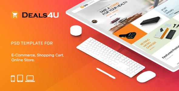 Deals4U E-Commerce PSD Template - Shopping Retail