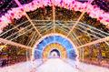 Light tunnel of strings. Christmas - PhotoDune Item for Sale