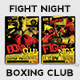 Fight Night Flyer Template V1 - GraphicRiver Item for Sale