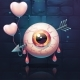 Pierced Eye with Heart on the Brick Wall - GraphicRiver Item for Sale