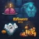 Vector Illustration Halloween Party Set Items - GraphicRiver Item for Sale
