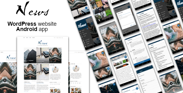 Android News App with WordPress Theme - CodeCanyon Item for Sale