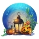 Halloween Cartoon Stylized Vector Illustration - GraphicRiver Item for Sale