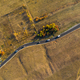Aerial drone view of winding asphalt road at autumn - PhotoDune Item for Sale