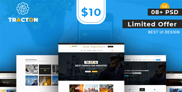 Tracton - Industrial/ Manufacturing PSD Template - Business Corporate