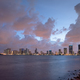 Strom Clearing Sunset Downtown City Skyline Waterrfront Miami Florida - PhotoDune Item for Sale