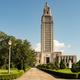Blue Skies on the Sidewalk Leading to State Capital Building Bat - PhotoDune Item for Sale