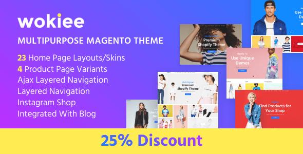 Wokiee - Multipurpose Fashion Magento Theme