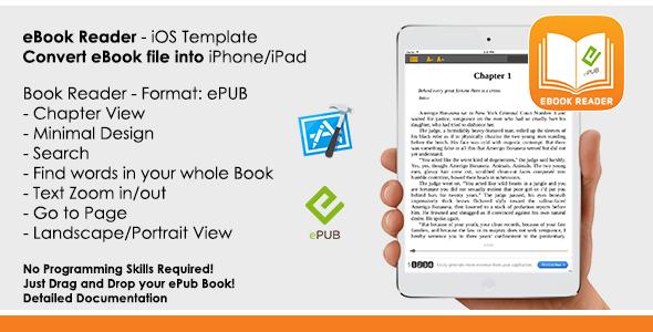 eBook - ePub Reader App iOS Template - CodeCanyon Item for Sale