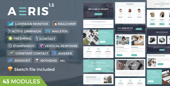 Aeris | Marketing Newsletter - Newsletters Email Templates