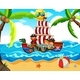 Kids Taking A Pirate Tour - GraphicRiver Item for Sale