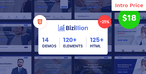 Bizillion - Multipurpose Business, Agency, Consultant and Corporate HTML5 Template - Corporate Site Templates