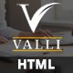 Valli - Corporate and Business One Page Responsive HTML Template - ThemeForest Item for Sale