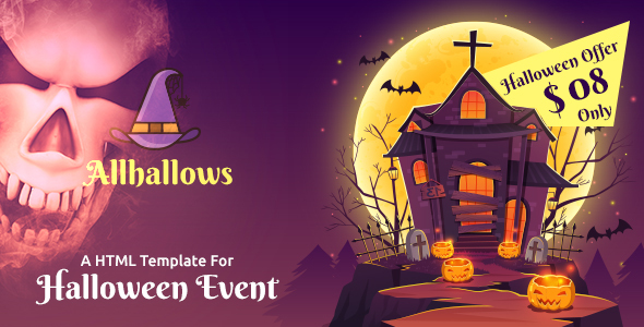 Allhallows - Halloween HTML Template Free Download   Nulled