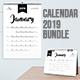 Calendar 2019 Bundle 3 - GraphicRiver Item for Sale