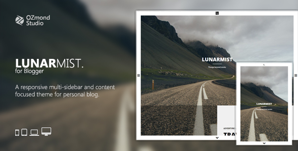 LunarMist: A Responsive Theme for Photography & Personal - Blogger Blogging