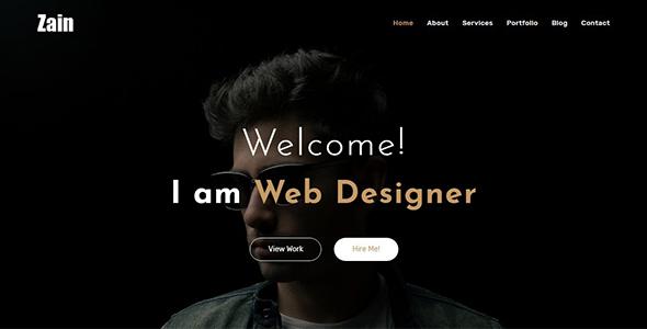 Zain - One Page Portfolio