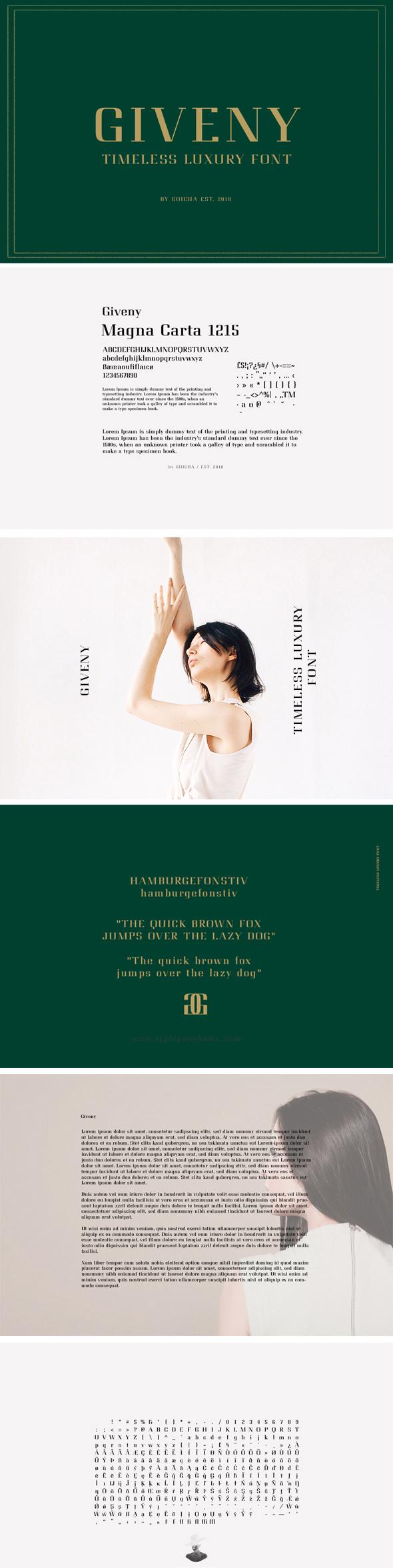 Giveny -  Timeless Luxury Font - Serif Fonts