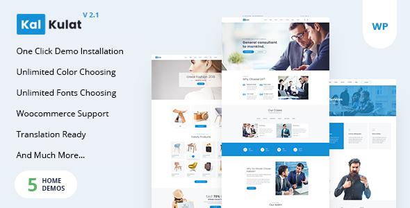 Kalkulat - Multipurpose WordPress Startup Business Theme - Business Corporate