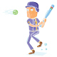 Baseball Player in Action - GraphicRiver Item for Sale