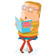 Book Lover Read a Book - GraphicRiver Item for Sale