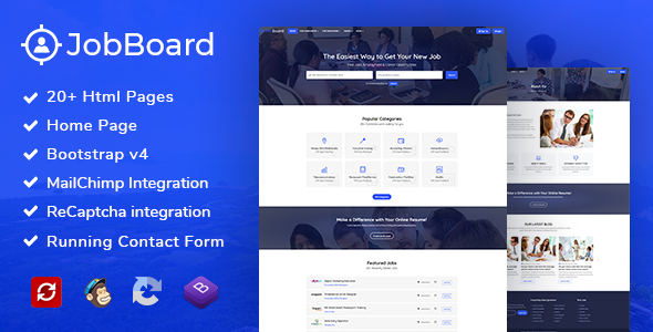 Job Board: Job Portal HTML Bootstrap 4 - Business Corporate